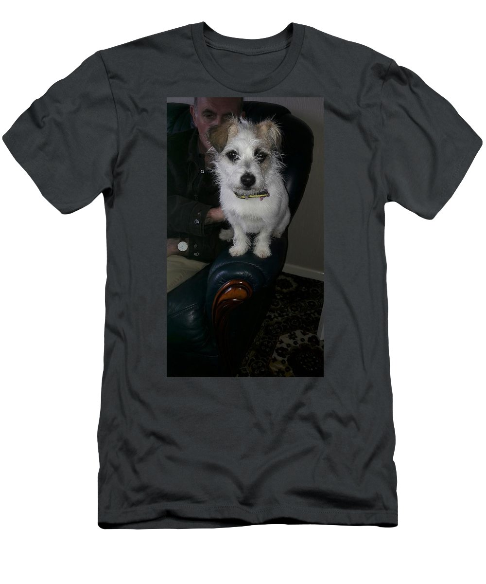Long Haired Jack Russel Dog Men's T-Shirt (Athletic Fit) featuring the photograph Jack Russel by Billy Stewart