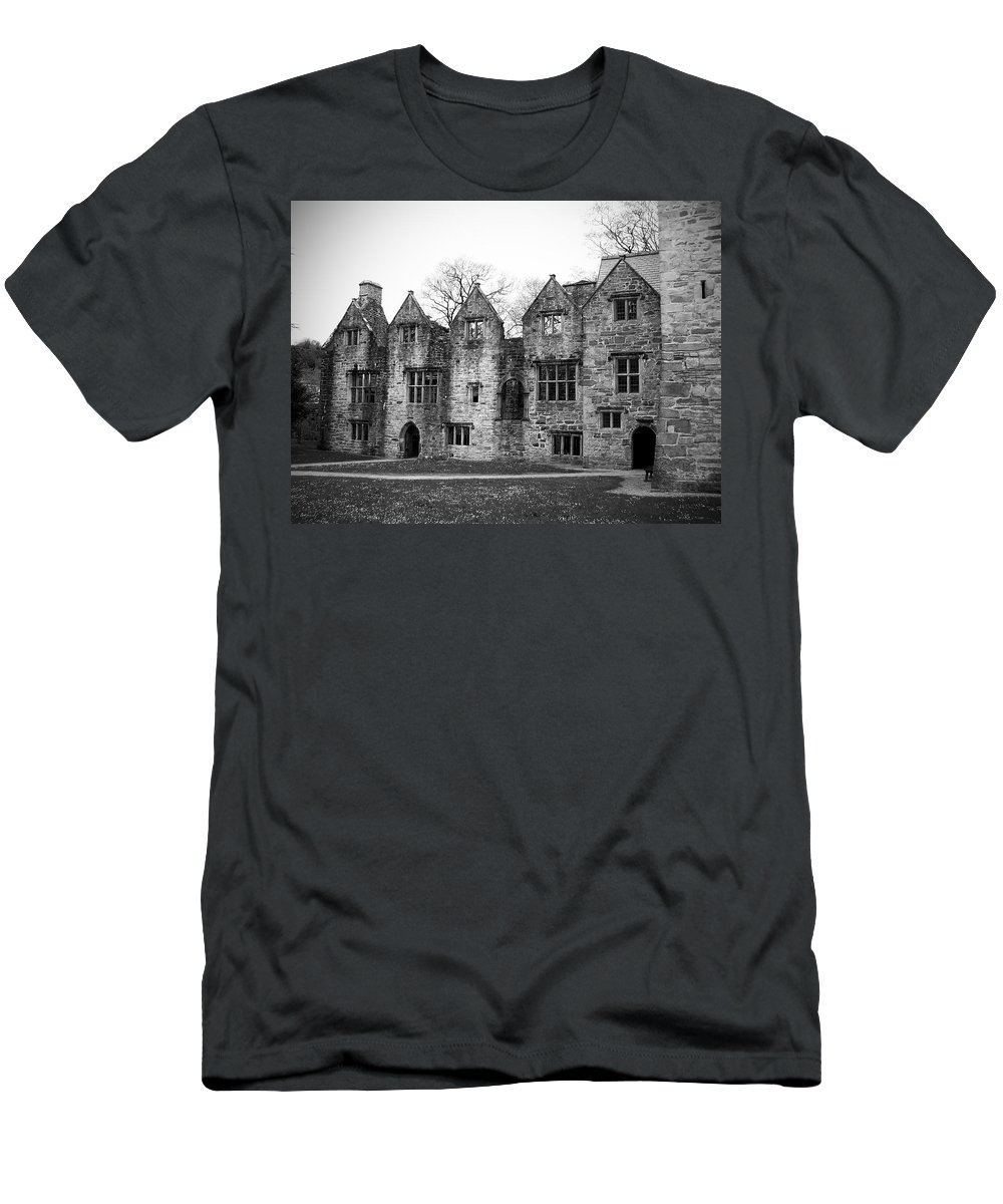 Irish Men's T-Shirt (Athletic Fit) featuring the photograph Jacobean Wing At Donegal Castle Ireland by Teresa Mucha