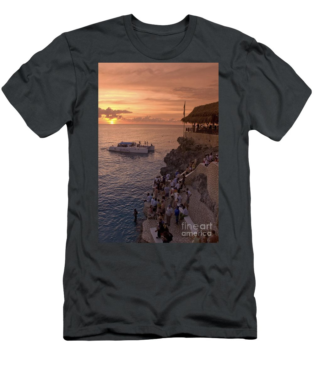 Air T-Shirt featuring the photograph Jamaica Negril Ricks Cafe by Juergen Held