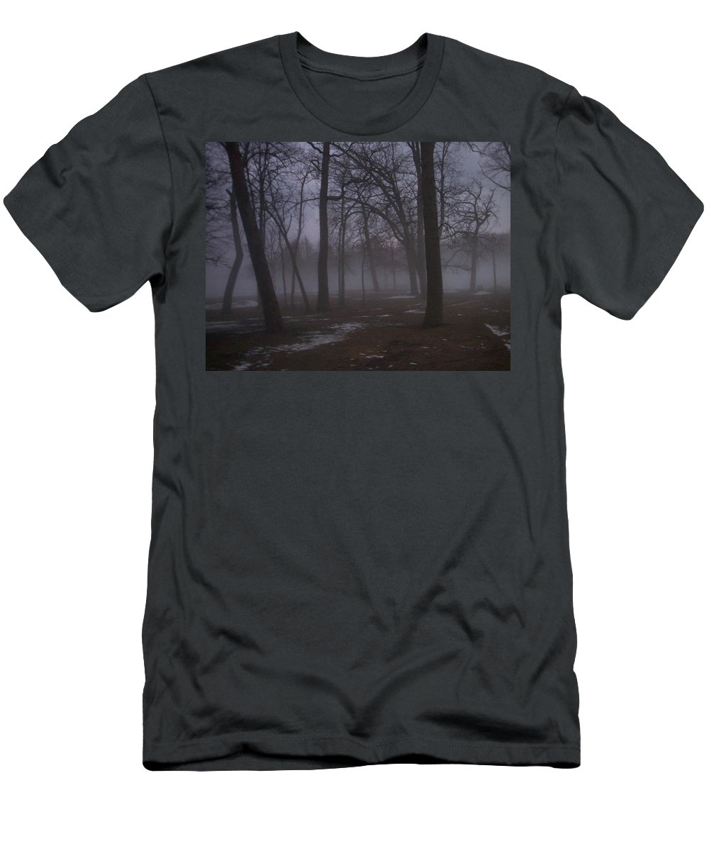 January Men's T-Shirt (Athletic Fit) featuring the photograph January Fog 2 by Anita Burgermeister