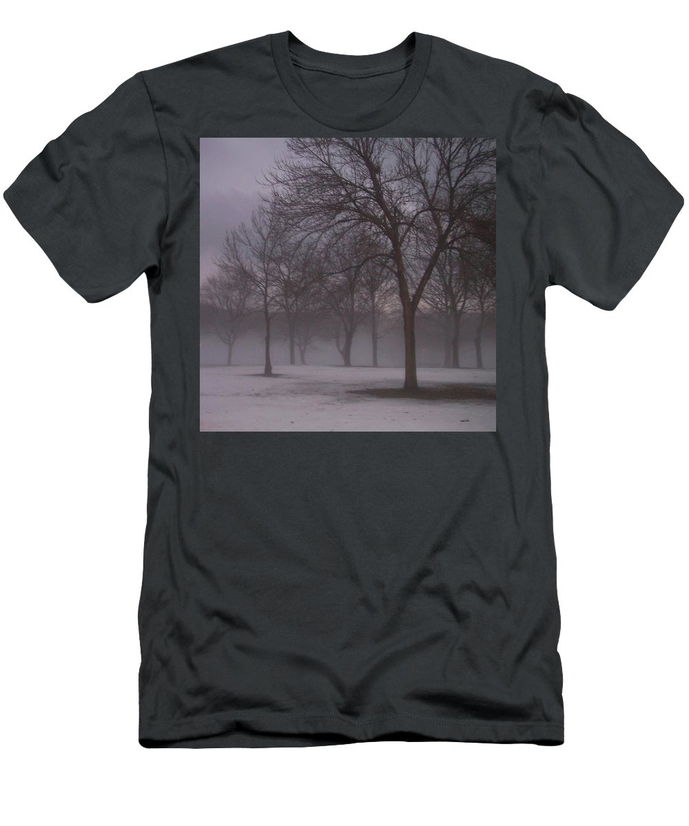 January Men's T-Shirt (Athletic Fit) featuring the photograph January Fog 4 by Anita Burgermeister