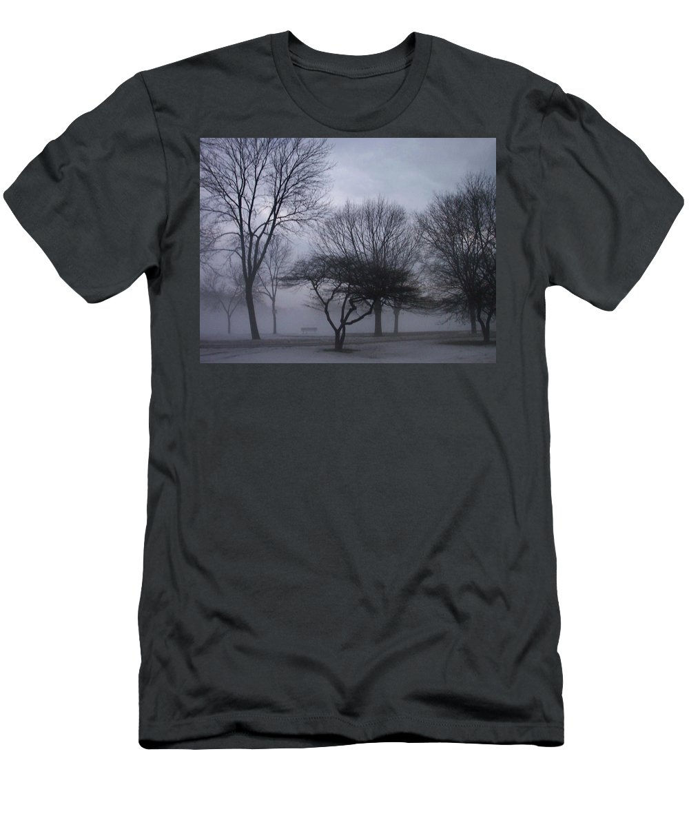 January Men's T-Shirt (Athletic Fit) featuring the photograph January Fog 6 by Anita Burgermeister