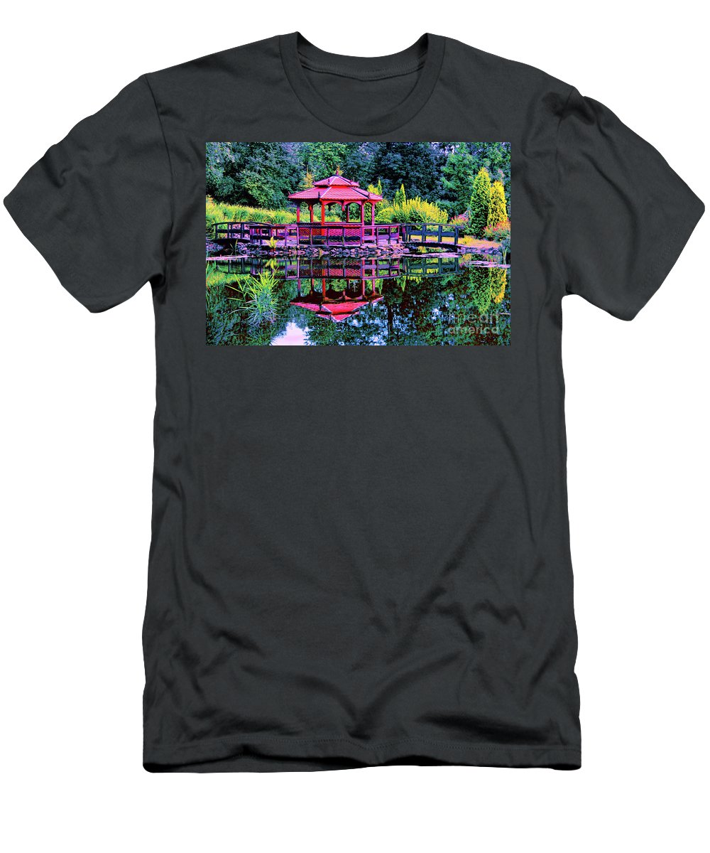 Japanese Garden Men's T-Shirt (Athletic Fit) featuring the photograph Japanese Garden by Mariola Bitner