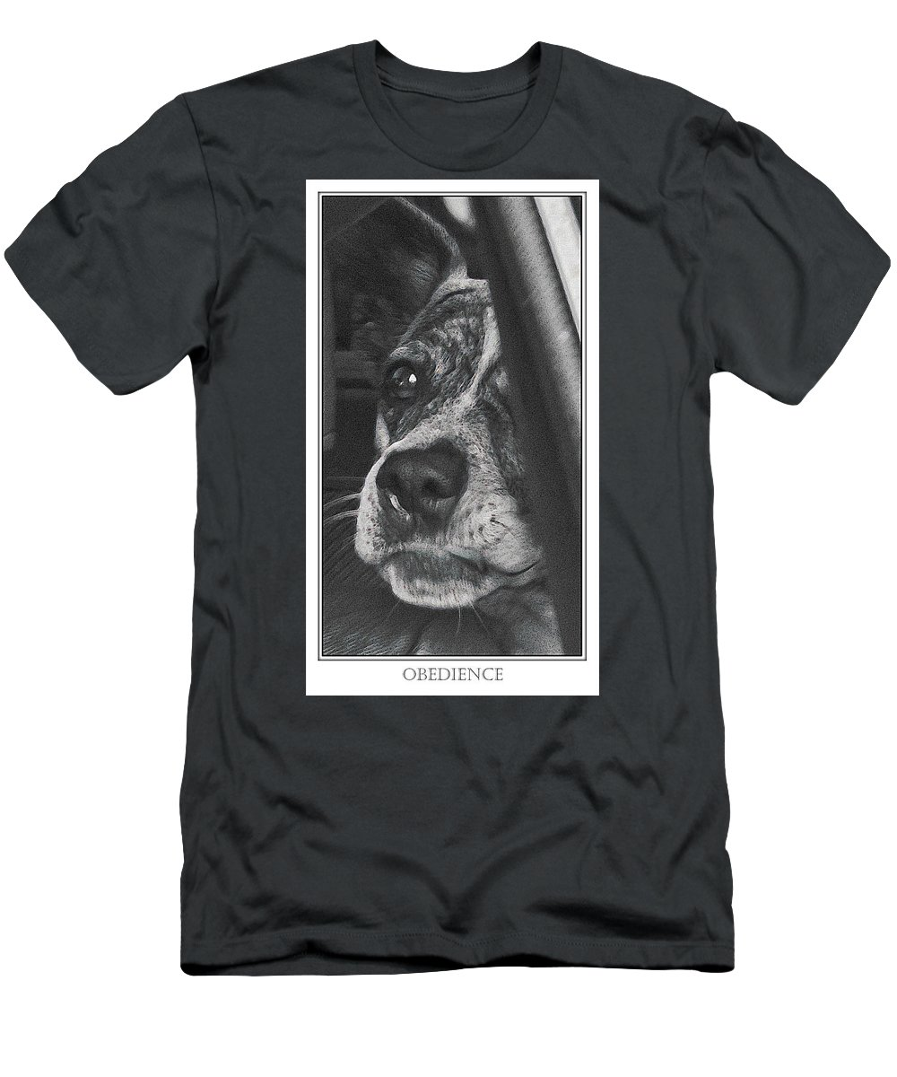 Dog Men's T-Shirt (Athletic Fit) featuring the photograph Jazz by Karen W Meyer