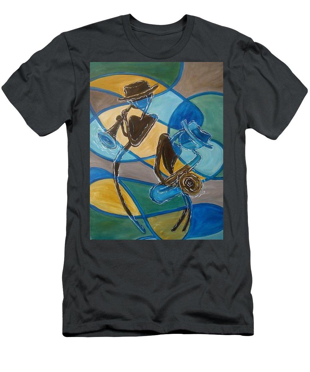 Jazz T-Shirt featuring the painting Jazz Raz by Regina Walsh