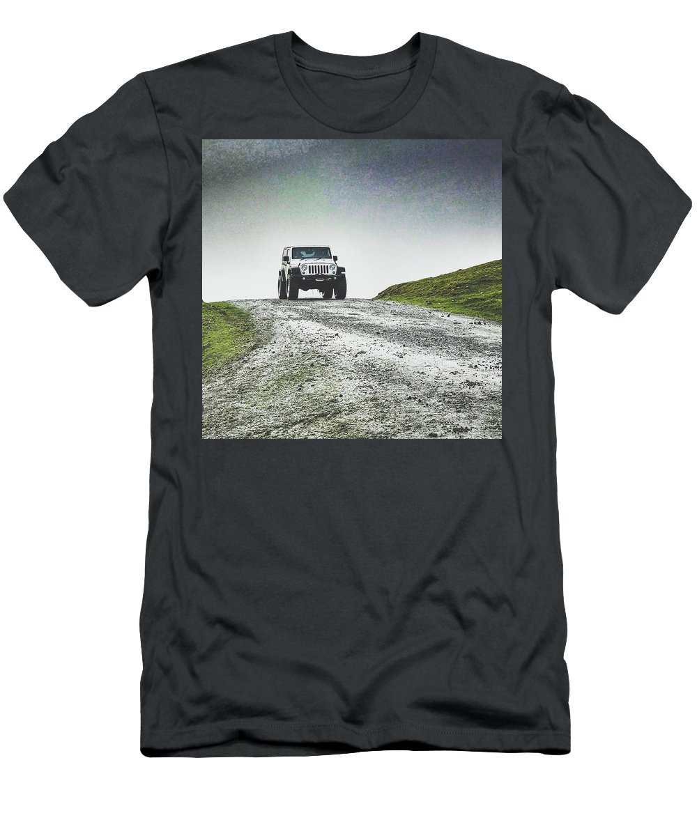 Mountain Men's T-Shirt (Athletic Fit) featuring the photograph Jeep by Carlton Boyce