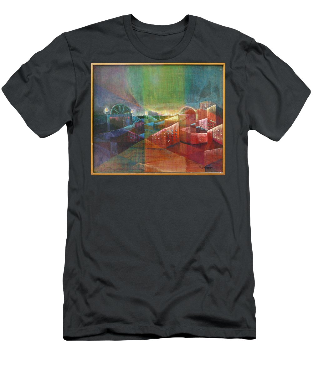 Drawing Men's T-Shirt (Athletic Fit) featuring the painting Jerusalem by Gideon Cohn