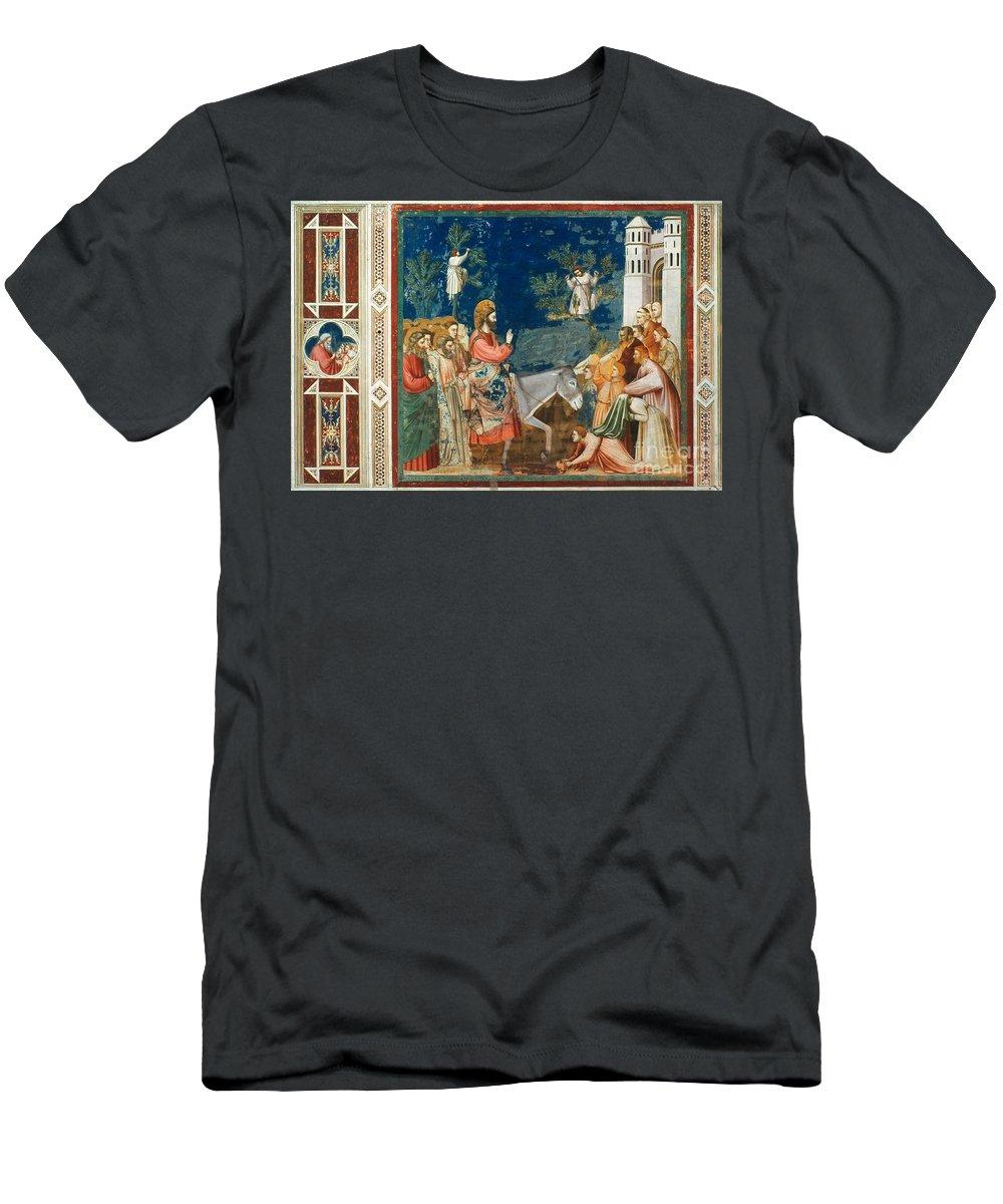 1305 Men's T-Shirt (Athletic Fit) featuring the photograph Jesus Entering Jerusalem by Granger