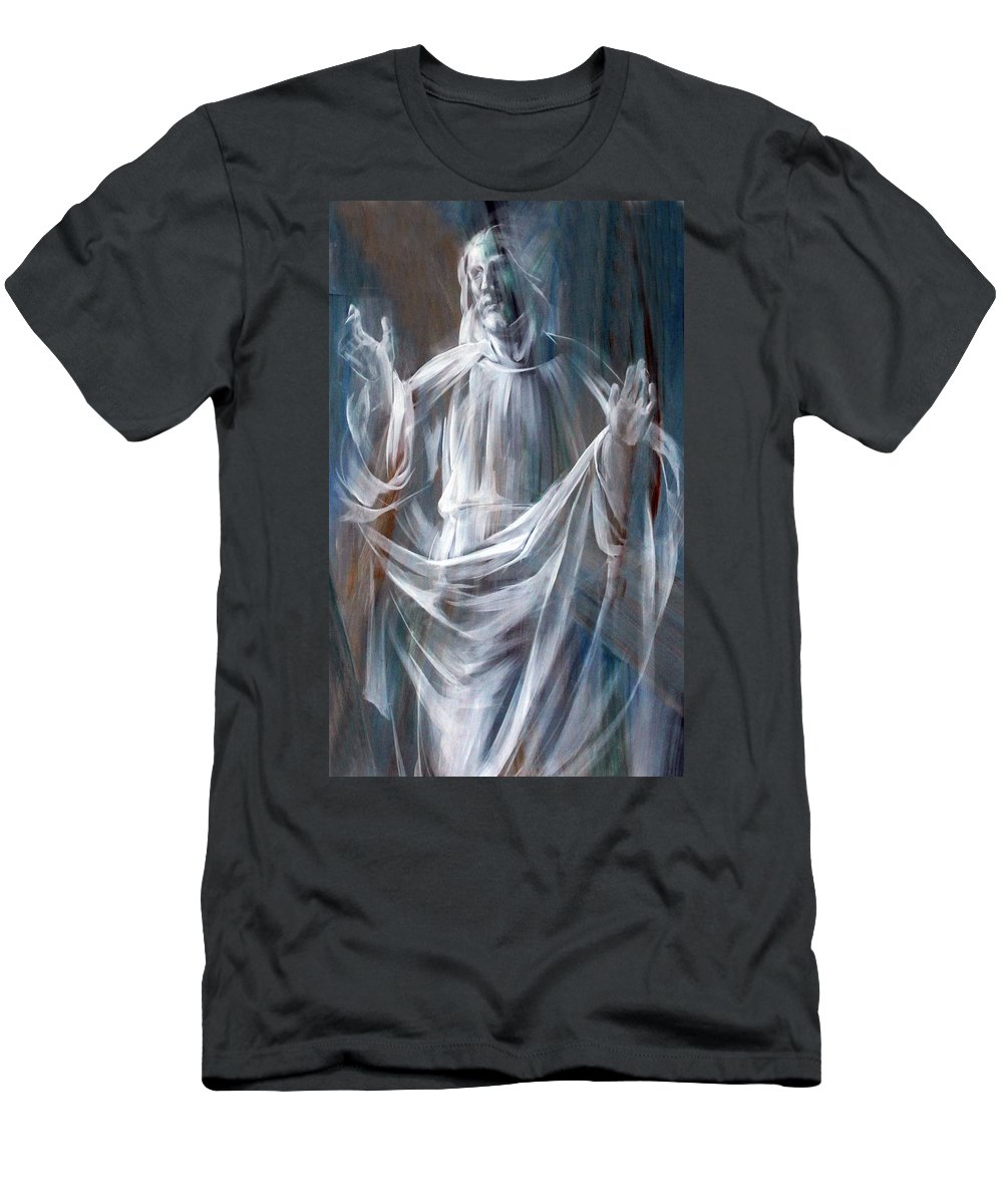 Jesus Men's T-Shirt (Athletic Fit) featuring the photograph Jesus In Rome by Munir Alawi