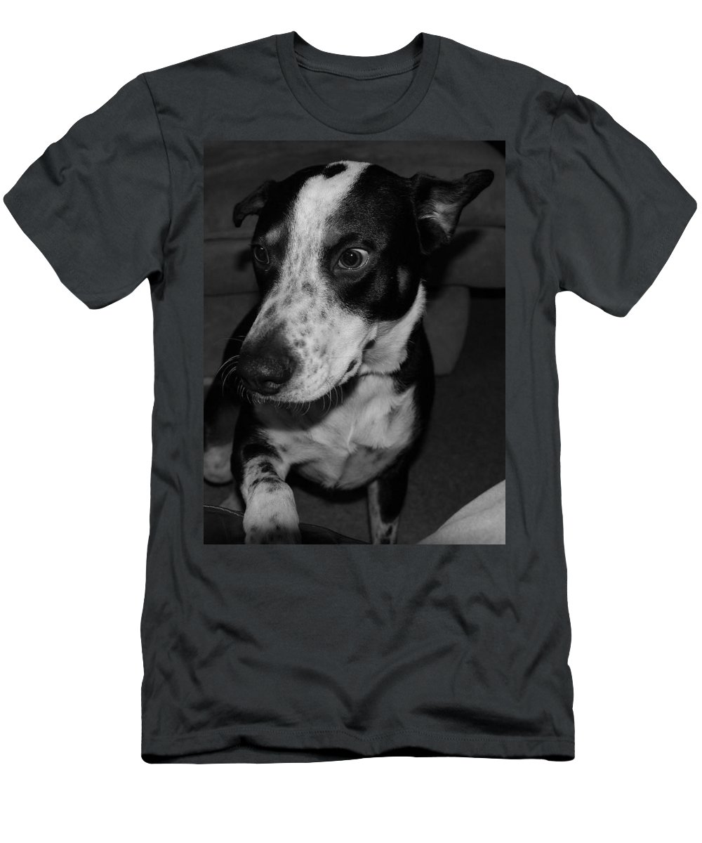 Black And White Men's T-Shirt (Athletic Fit) featuring the photograph Jimmy by Rob Hans