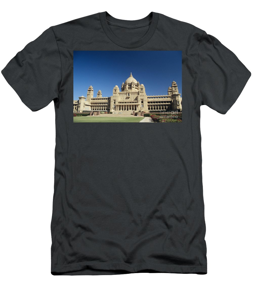 Architecture Men's T-Shirt (Athletic Fit) featuring the photograph Jodhpur Bhawan Palace by Gloria and Richard Maschmeyer - Printscapes
