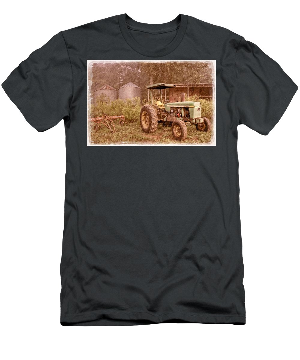 2440 Men's T-Shirt (Athletic Fit) featuring the photograph John Deere Antique by Debra and Dave Vanderlaan