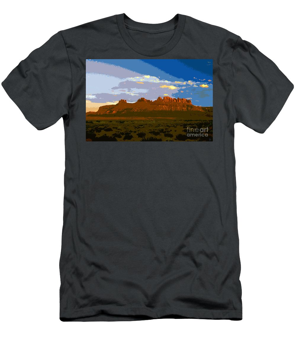 Landscape Men's T-Shirt (Athletic Fit) featuring the painting John Wayne Country by David Lee Thompson