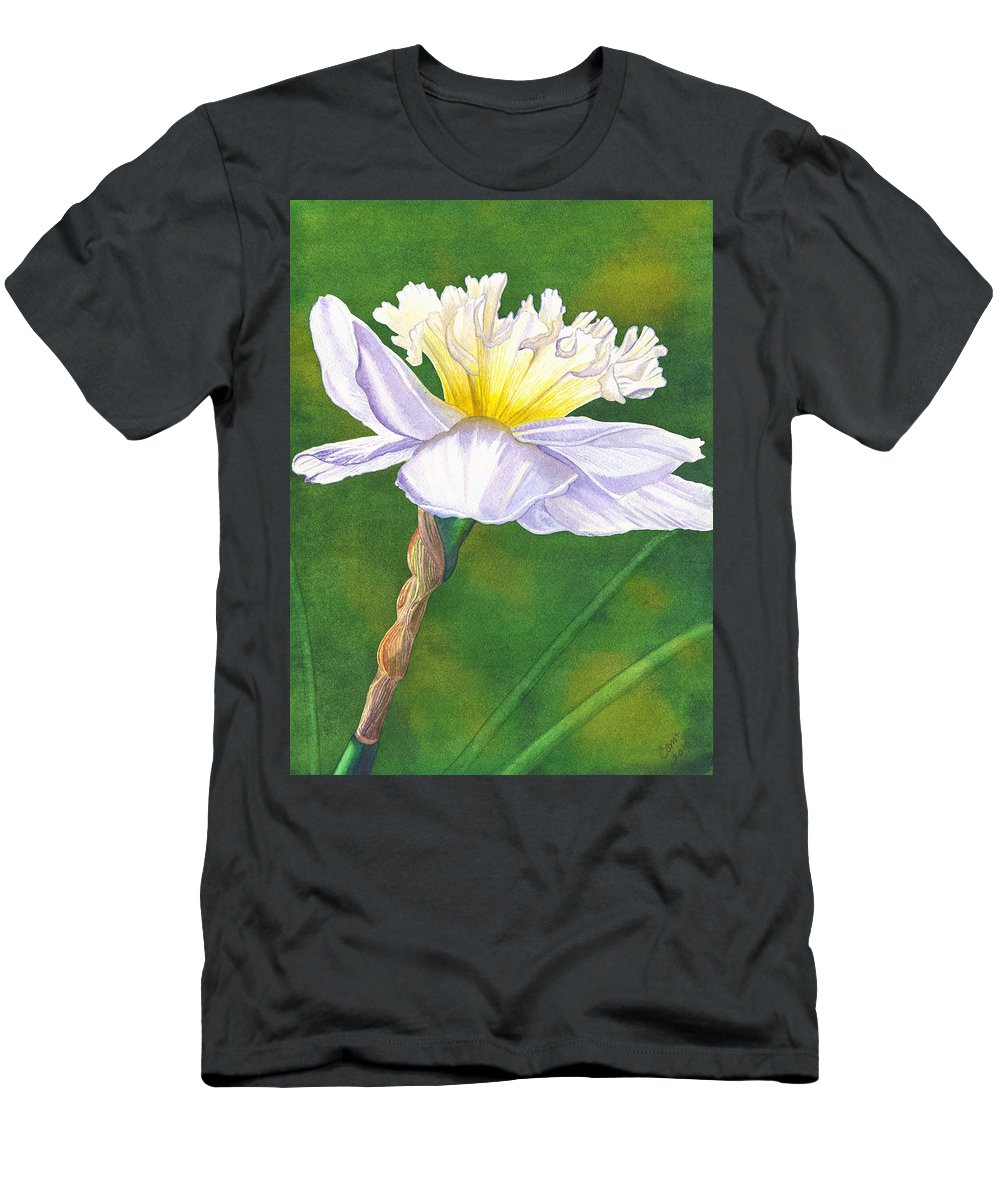 Jonquil Men's T-Shirt (Athletic Fit) featuring the painting Jonquil by Catherine G McElroy
