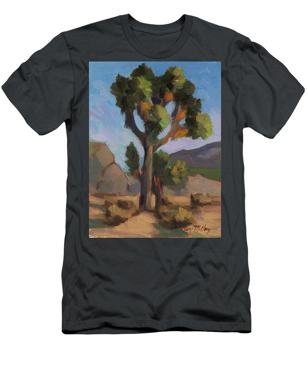 Joshua Tree Men's T-Shirt (Athletic Fit) featuring the painting Joshua Tree 2 by Diane McClary