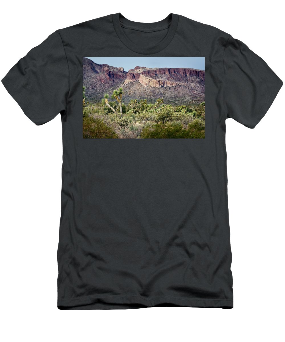 Joshua Trees Men's T-Shirt (Athletic Fit) featuring the photograph Joshua Trees by Phyllis Denton