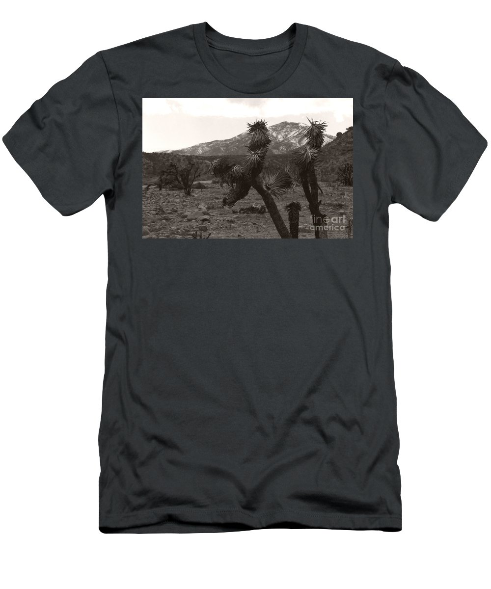 Men's T-Shirt (Athletic Fit) featuring the photograph Joshua With Snow Capped Mountain by Heather Kirk