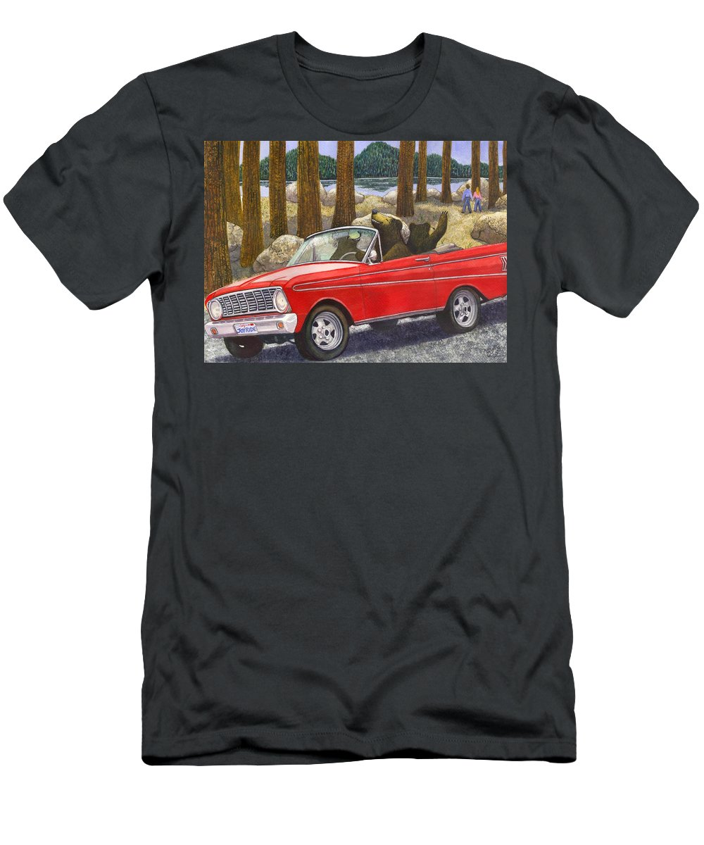Bears Men's T-Shirt (Athletic Fit) featuring the painting Joy Ride by Catherine G McElroy