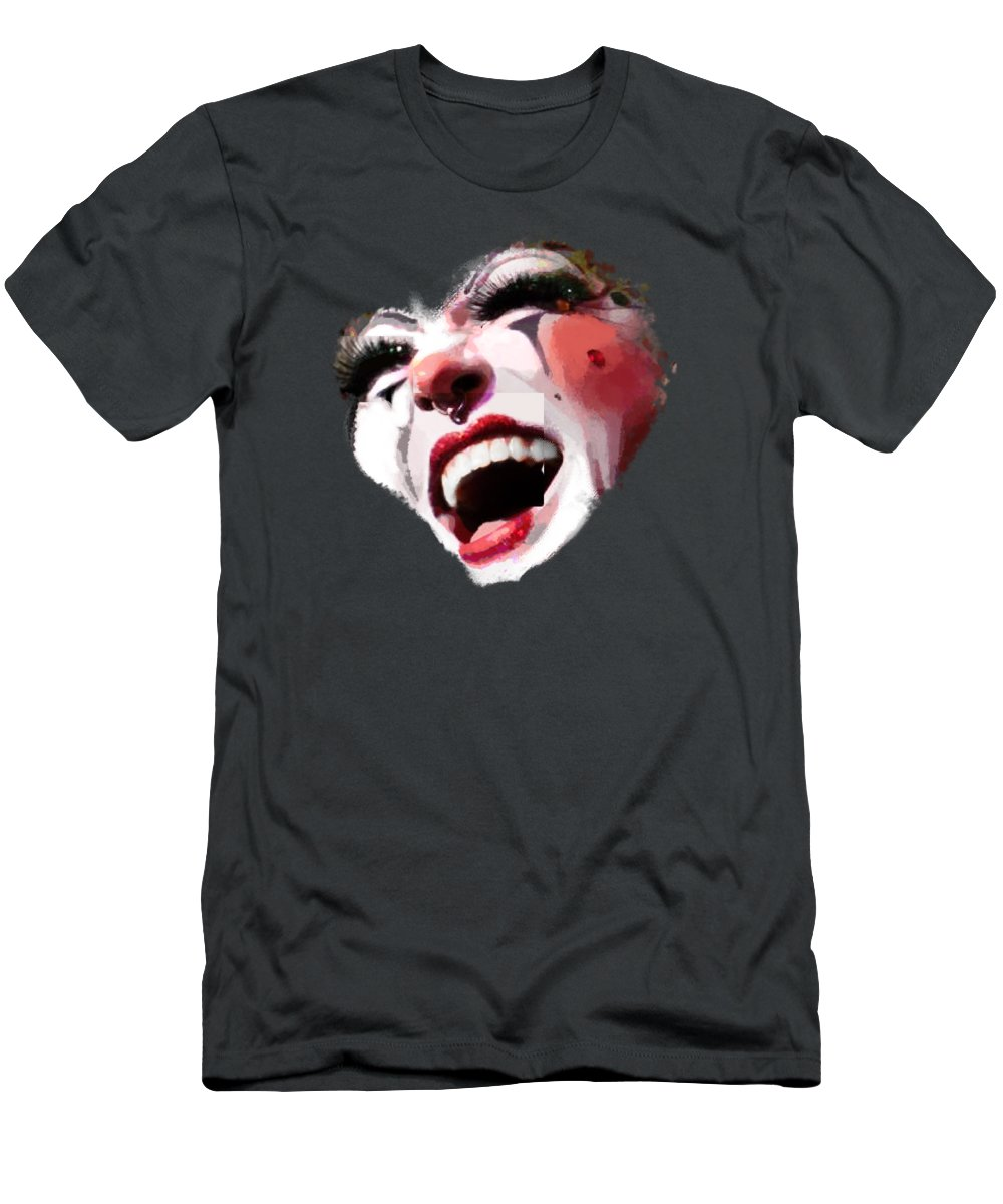 Remix Men's T-Shirt (Athletic Fit) featuring the photograph Joyful Klown by Eddie Rifkind