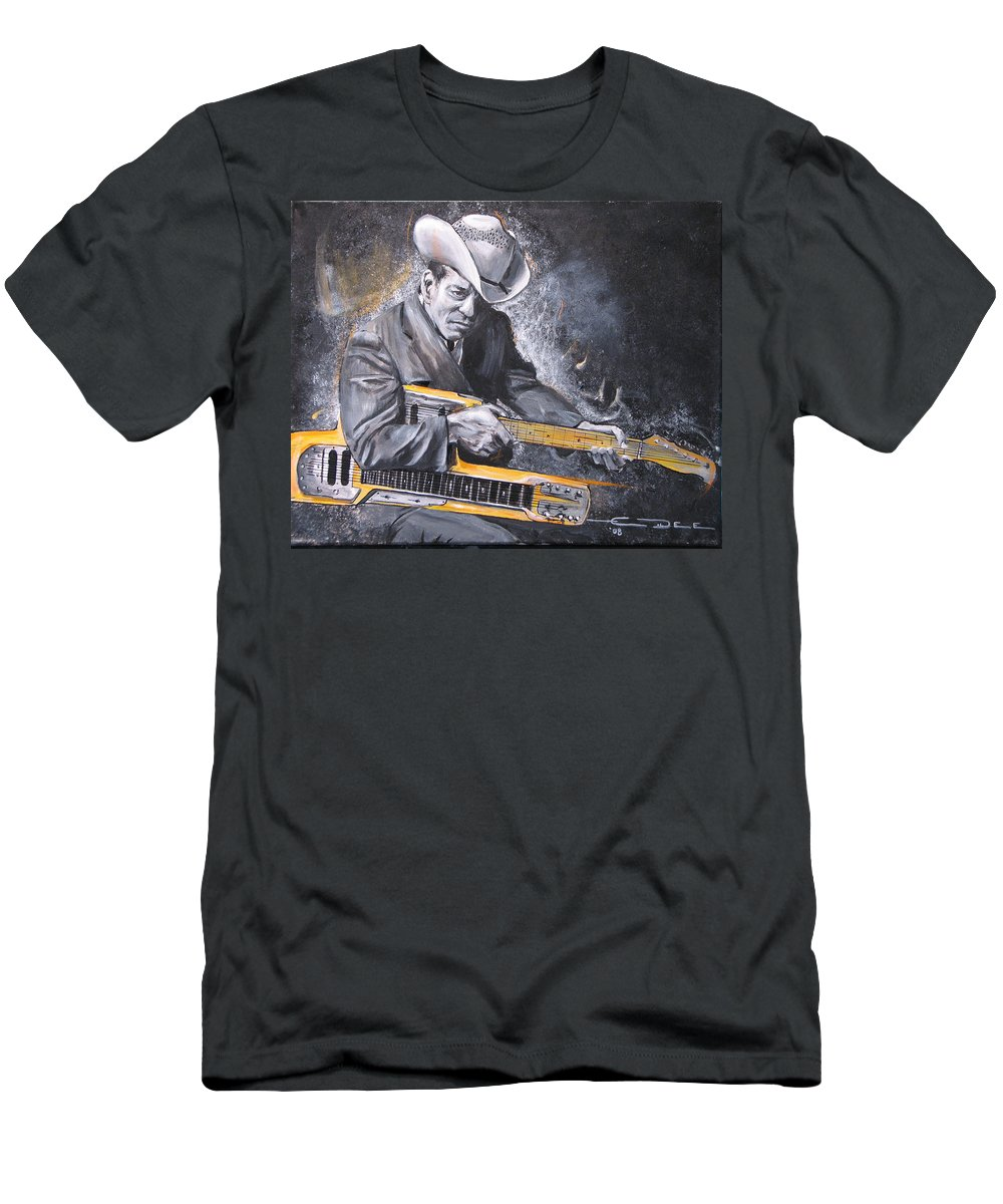 Jr. Brown Men's T-Shirt (Athletic Fit) featuring the painting Jr. Brown by Eric Dee