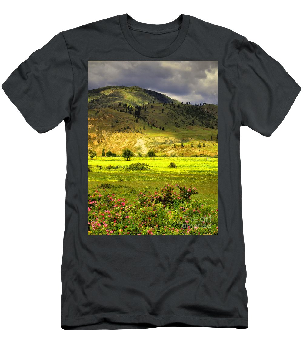 Trees Men's T-Shirt (Athletic Fit) featuring the photograph June 7 2010 by Tara Turner