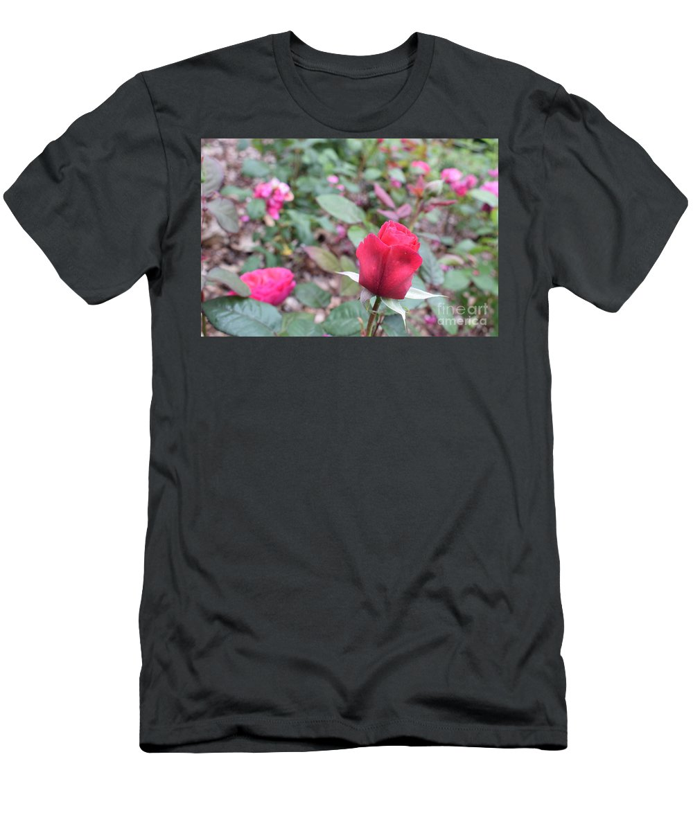 Men's T-Shirt (Athletic Fit) featuring the photograph June Rose #4 by Jordan Butterfield