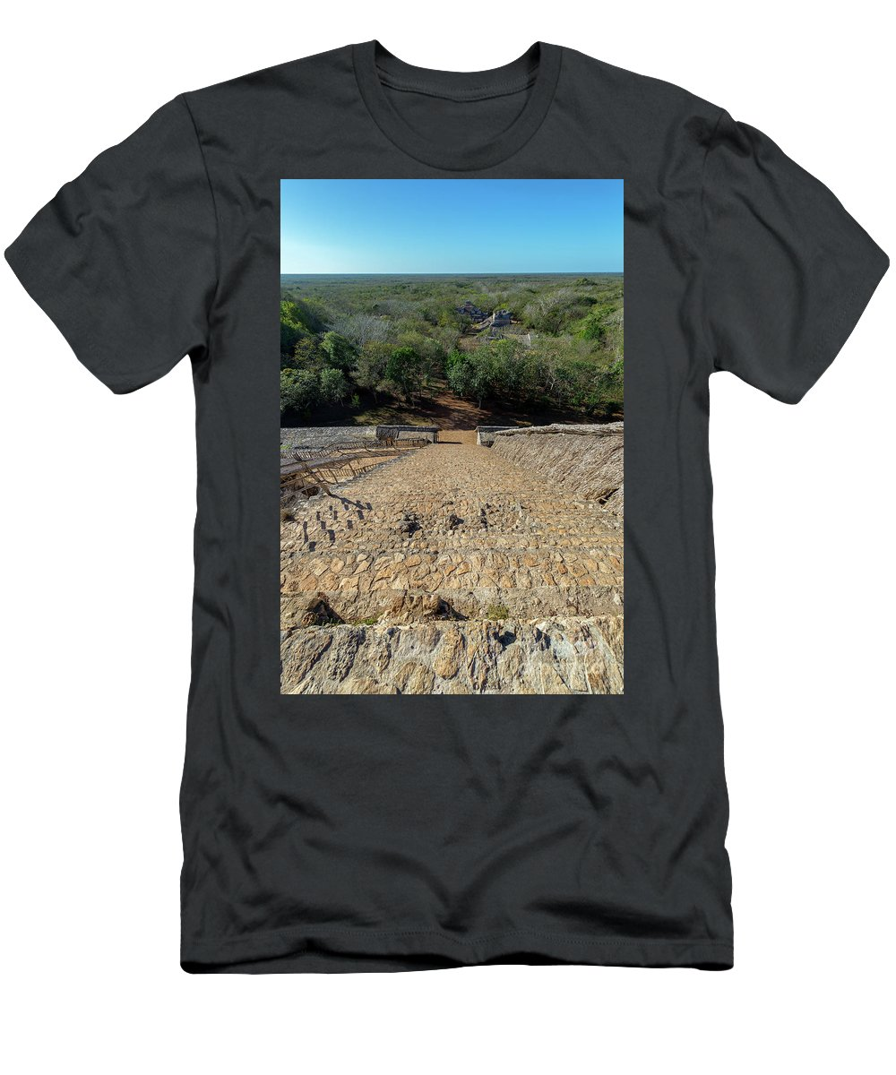 Balam Men's T-Shirt (Athletic Fit) featuring the photograph Jungle And Ruins View by Jess Kraft