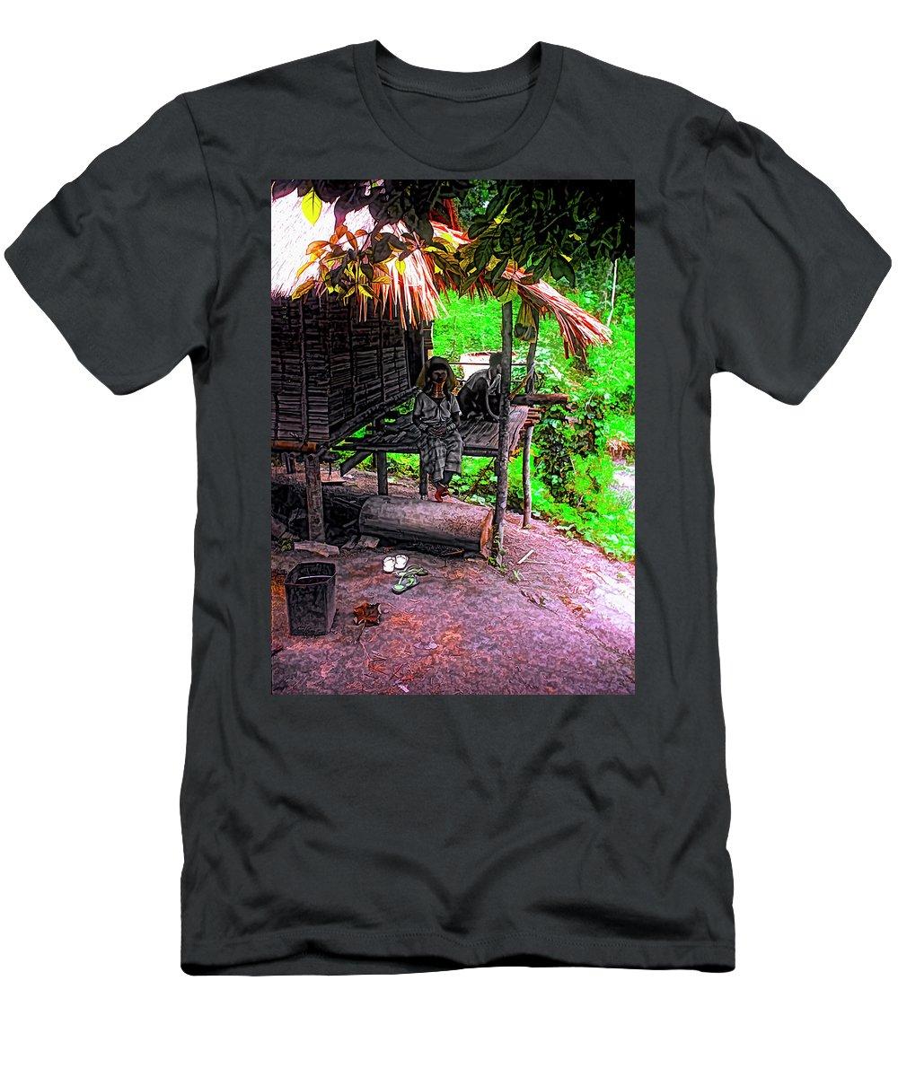 Couple Men's T-Shirt (Athletic Fit) featuring the photograph Jungle Life by Steve Harrington