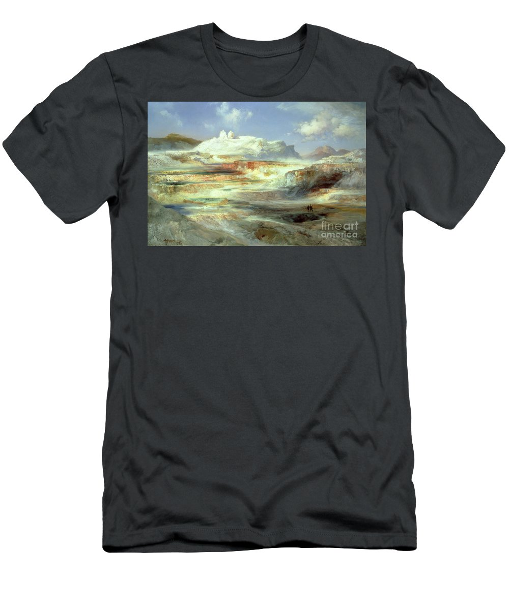 Jupiter Terrace Men's T-Shirt (Athletic Fit) featuring the painting Jupiter Terrace by Thomas Moran