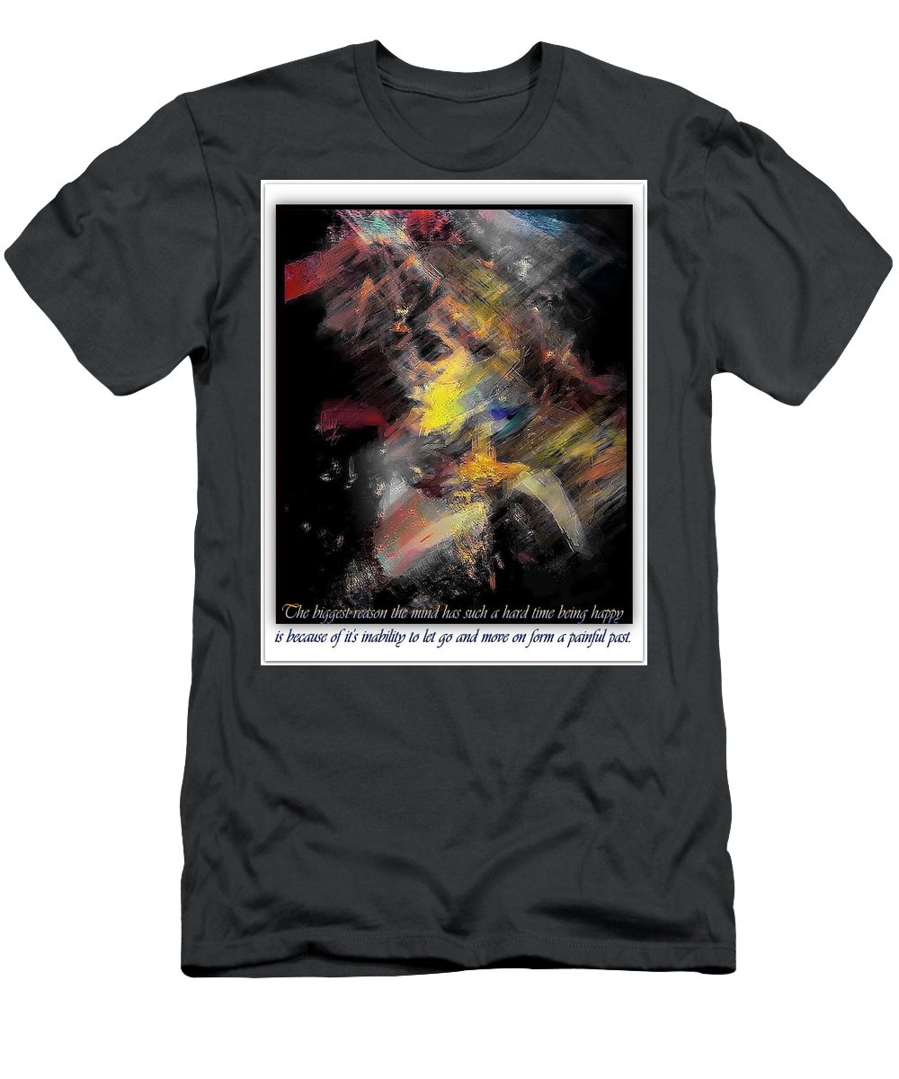 Wisdom Men's T-Shirt (Athletic Fit) featuring the painting Just Listen by Freddy Kirsheh