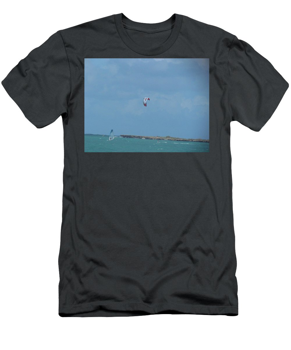Hawaii Men's T-Shirt (Athletic Fit) featuring the photograph Kailua Beach by Christina McNee-Geiger