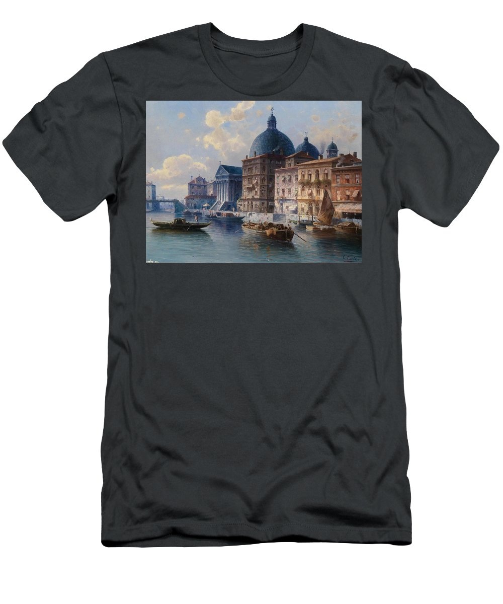 Karl Kaufmann Men's T-Shirt (Athletic Fit) featuring the painting Karl Kaufmann by MotionAge Designs