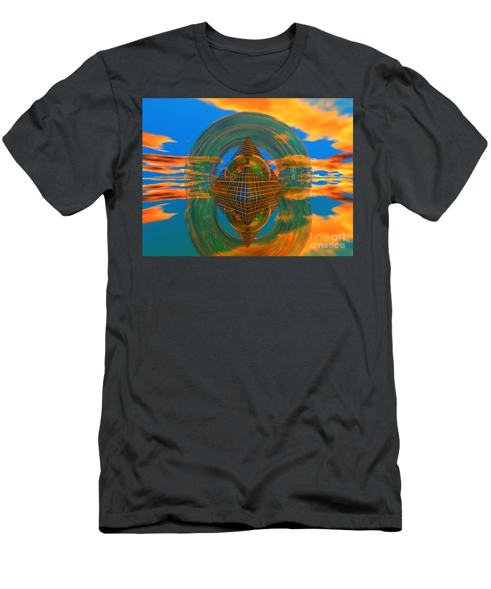 Karma Men's T-Shirt (Athletic Fit) featuring the digital art Karma by Oscar Basurto Carbonell