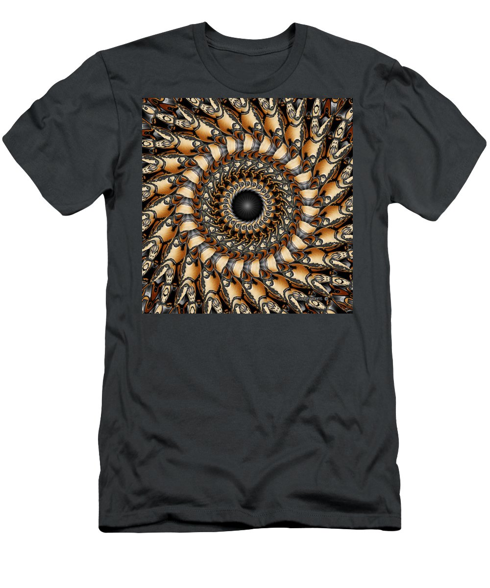 Spiral Men's T-Shirt (Athletic Fit) featuring the digital art Karma by Robert Orinski