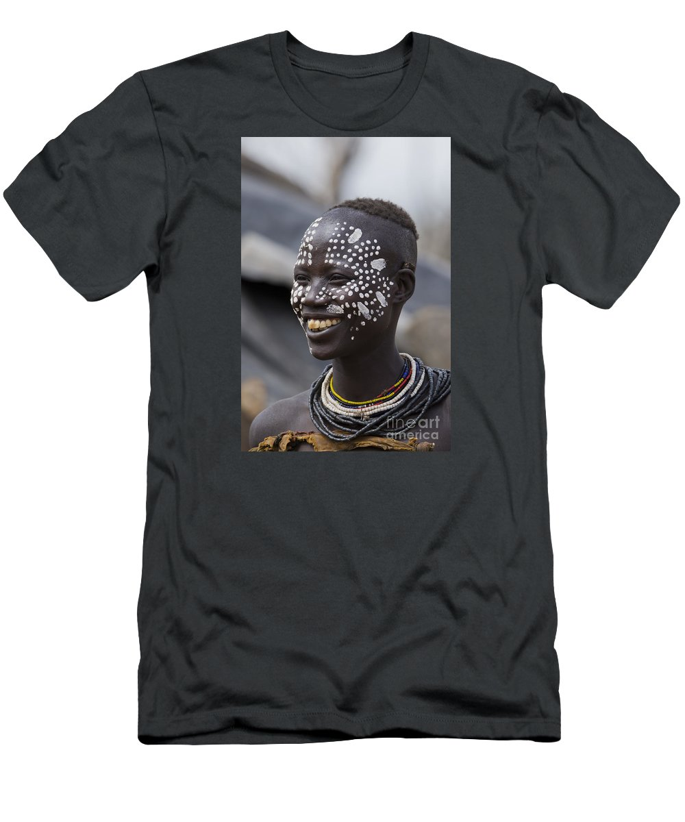 Anthropology Men's T-Shirt (Athletic Fit) featuring the photograph Karo Tribe Female by Eyal Bartov