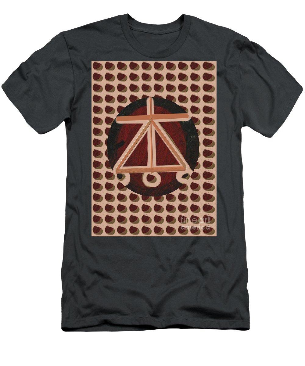 Karuna Men's T-Shirt (Athletic Fit) featuring the mixed media Karuna Reiki Healing Symbol Art By Navinjoshi At Fineartamerica.com Buy Posters Greetings Pillows Du by Navin Joshi