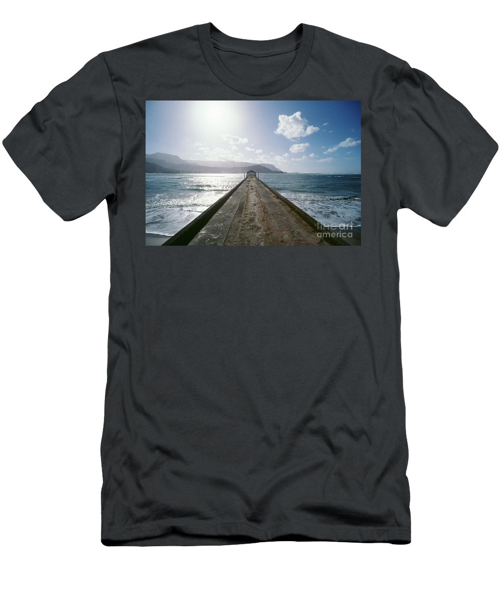 Afternoon Men's T-Shirt (Athletic Fit) featuring the photograph Kauai, Hanalei Bay by Greg Vaughn - Printscapes