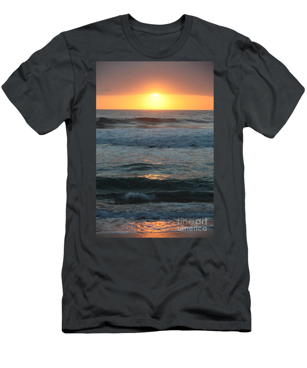Kauai Men's T-Shirt (Athletic Fit) featuring the photograph Kauai Sunrise by Nadine Rippelmeyer