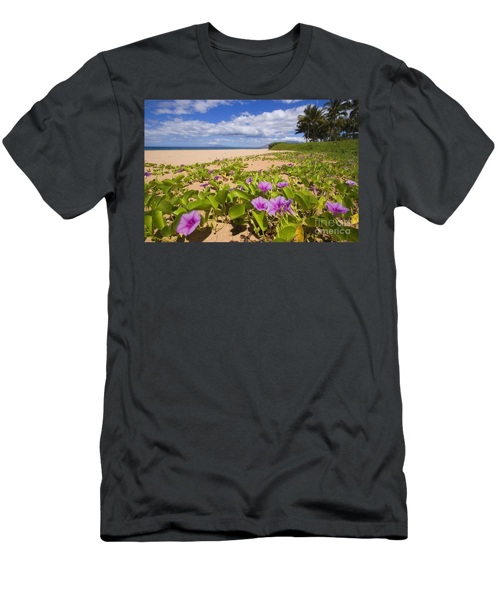 66-csm0133 Men's T-Shirt (Athletic Fit) featuring the photograph Keawakapu Beach by Ron Dahlquist - Printscapes