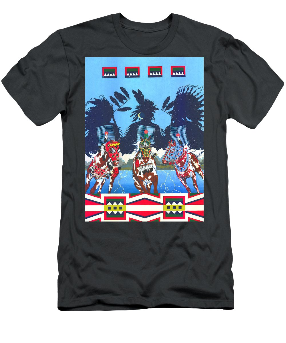 America Men's T-Shirt (Athletic Fit) featuring the painting Keepers Of The Law by Chholing Taha