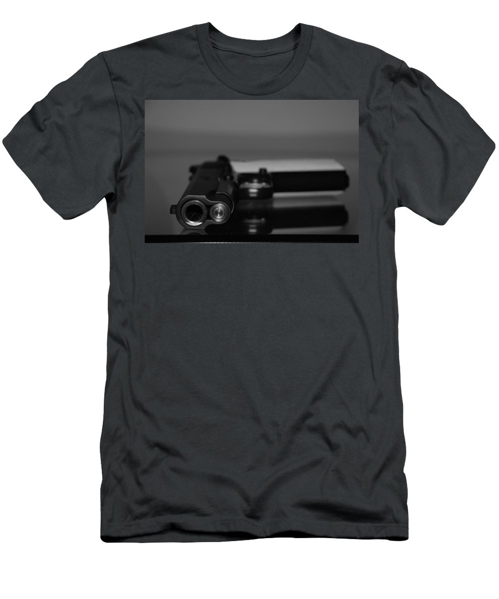 45 Auto Men's T-Shirt (Athletic Fit) featuring the photograph Kimber 45 by Rob Hans