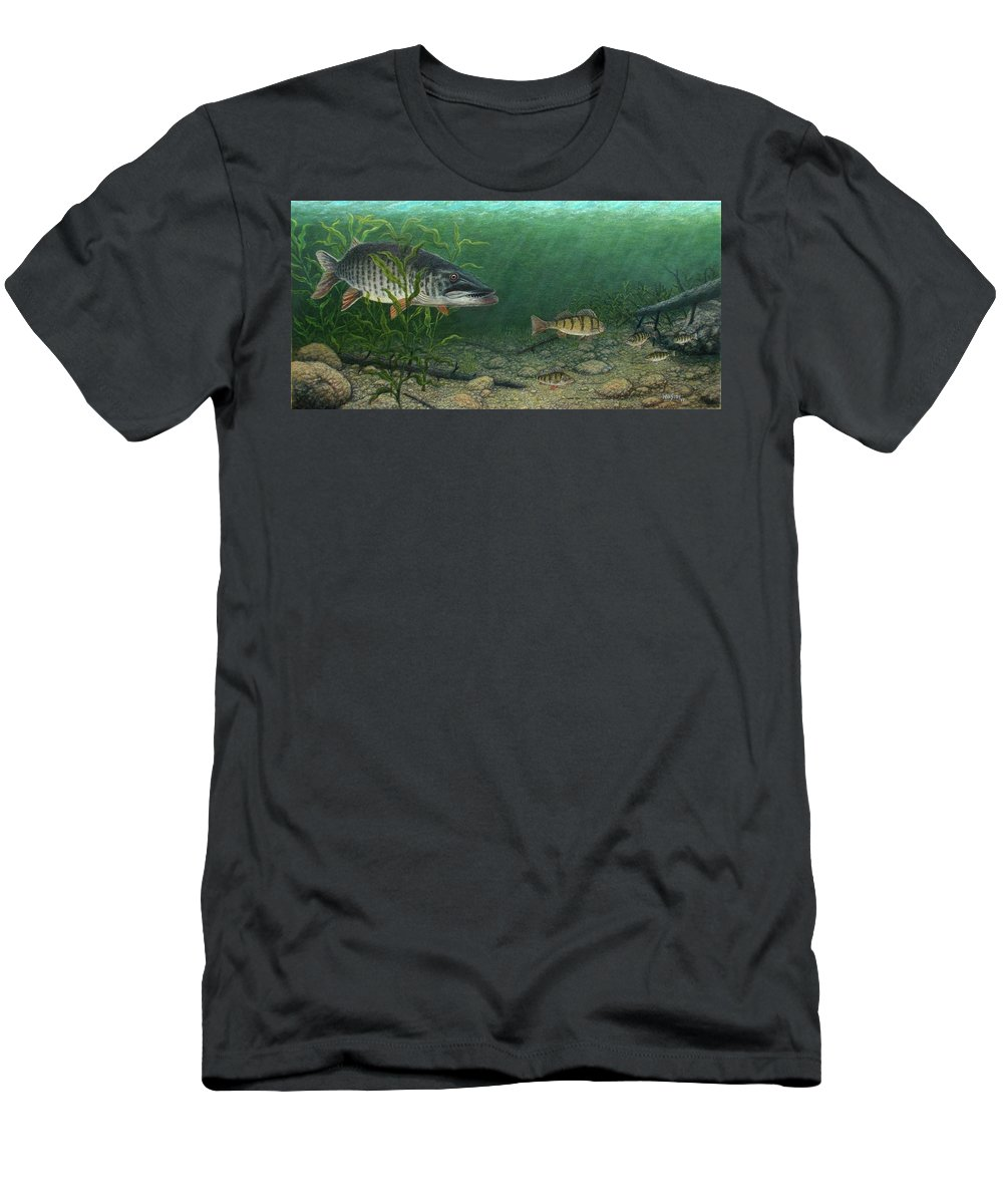 Fish Men's T-Shirt (Athletic Fit) featuring the painting King Of The Cove by Michael Winston