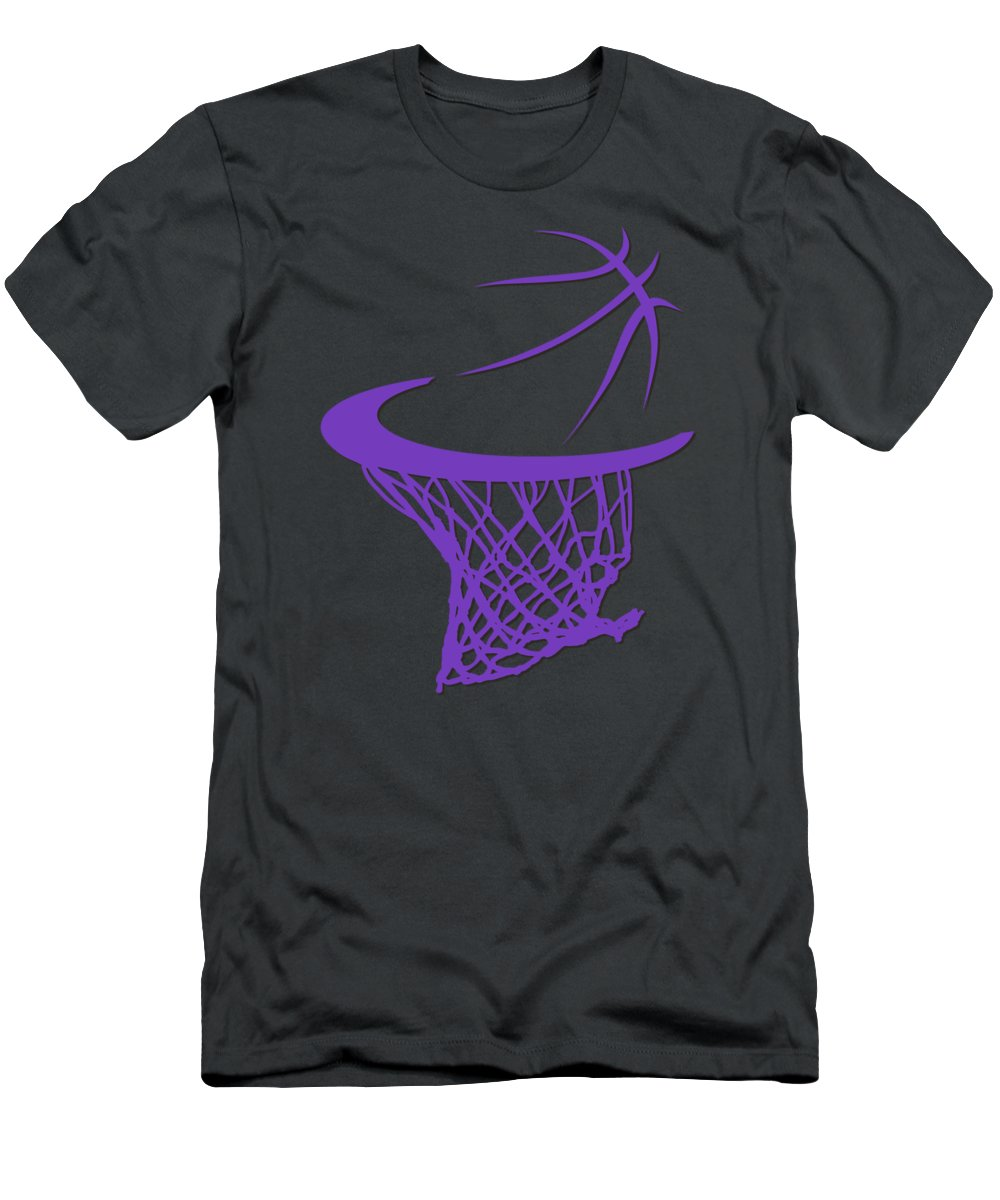 Kings Men's T-Shirt (Athletic Fit) featuring the photograph Kings Basketball Hoop by Joe Hamilton