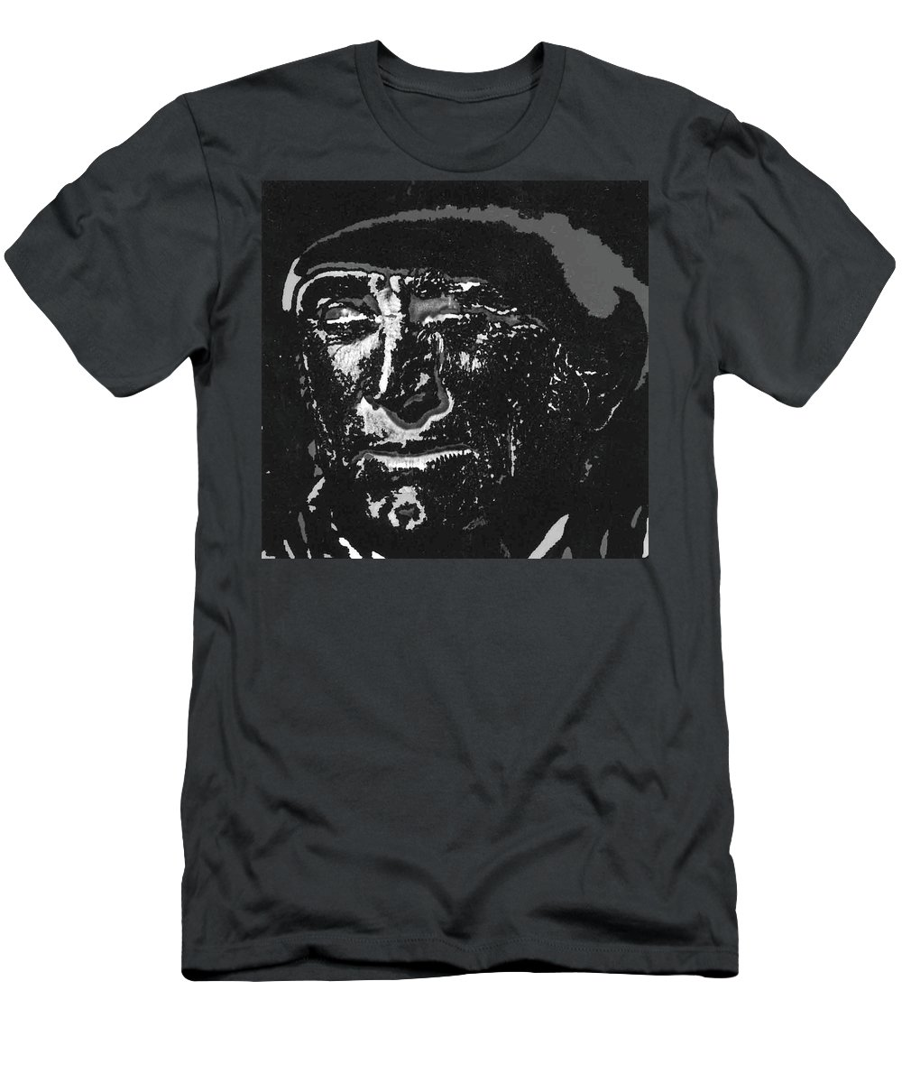 Kirk Douglas Old Tucson Arizona Number 1 1971-2008 Men's T-Shirt (Athletic Fit) featuring the photograph Kirk Douglas Old Tucson Arizona Number 1 1971-2008 by David Lee Guss