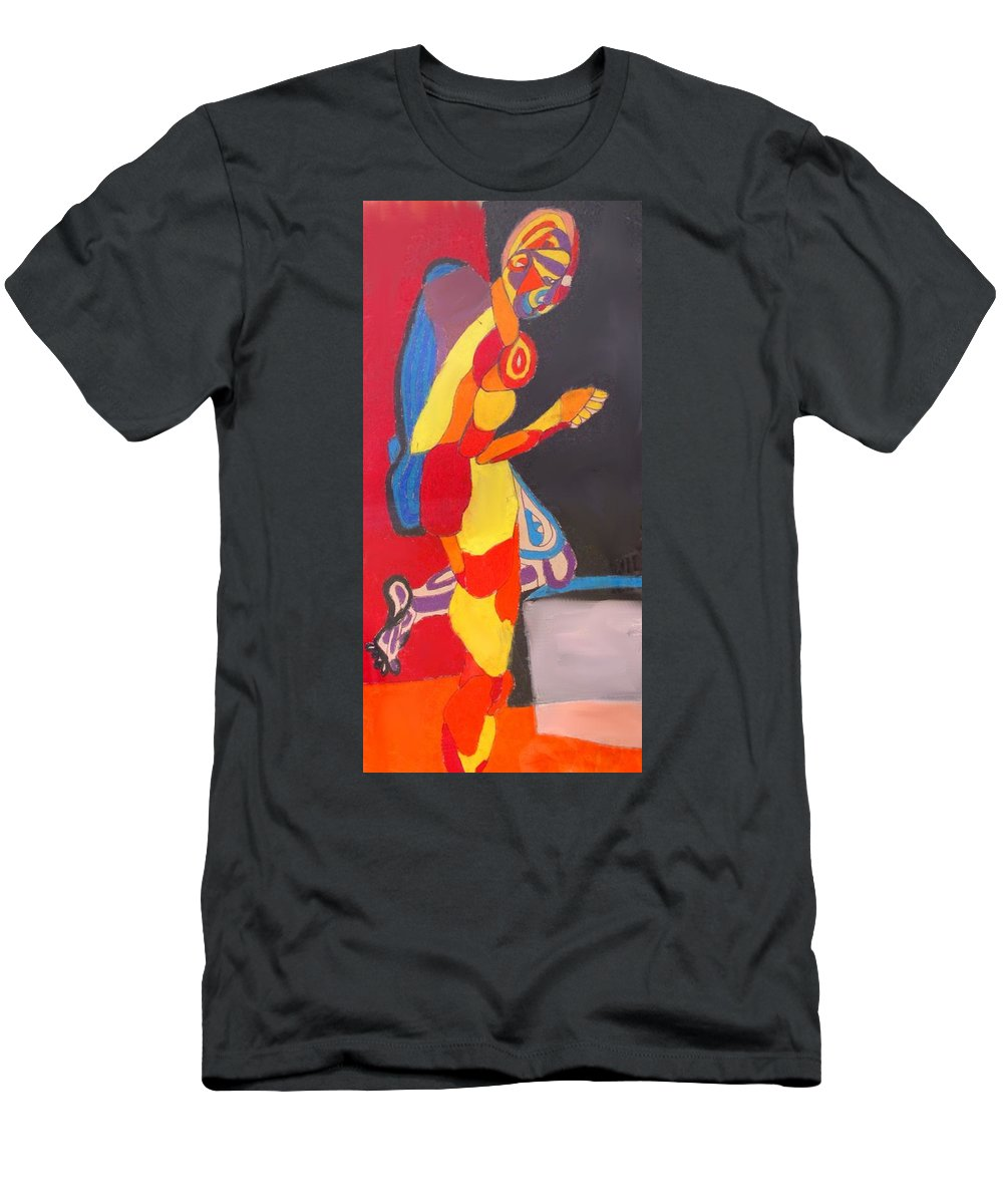 Man Men's T-Shirt (Athletic Fit) featuring the drawing Kneeling by Ian MacDonald