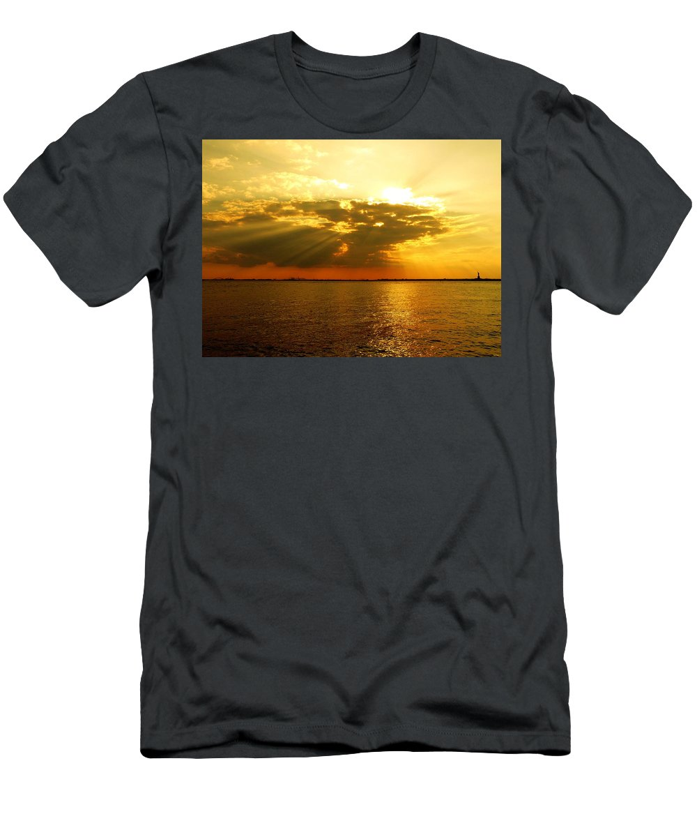 Gold Men's T-Shirt (Athletic Fit) featuring the photograph Knocking On Heaven's Door by Kendall Eutemey