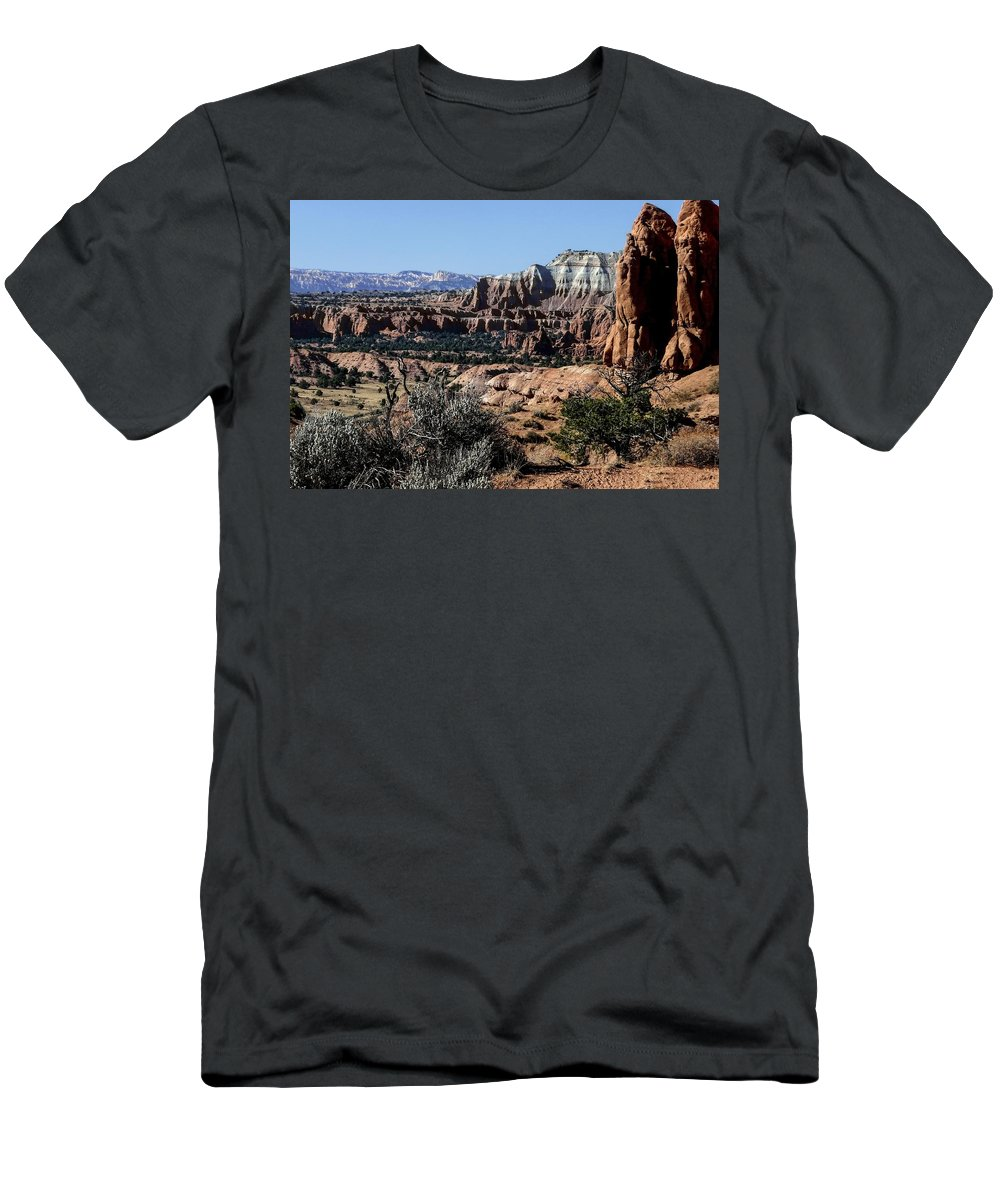 Bright Men's T-Shirt (Athletic Fit) featuring the photograph Kodachrome Basin Panorama by NaturesPix
