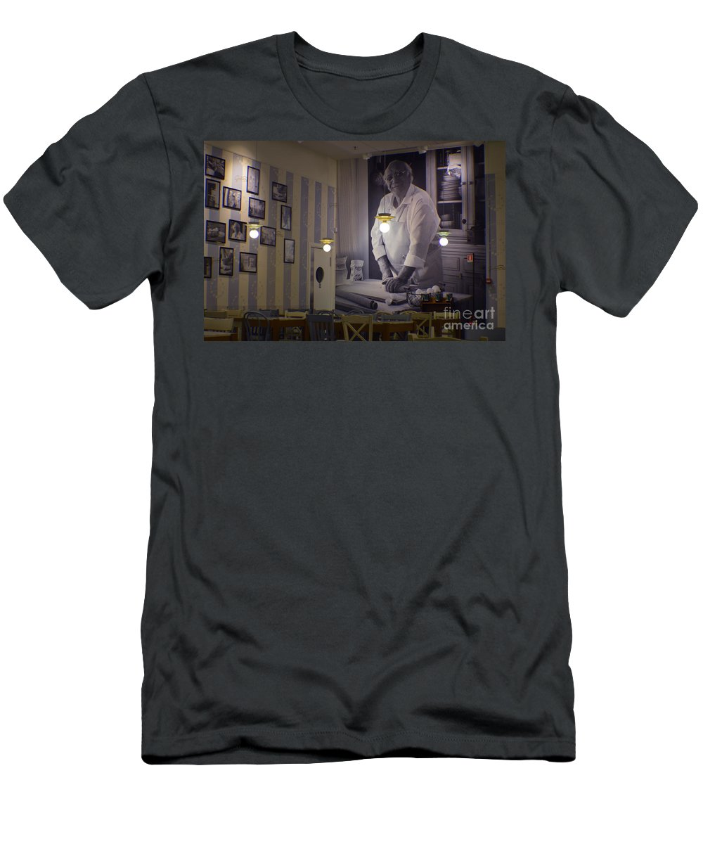 Cucina Men's T-Shirt (Athletic Fit) featuring the photograph La Cucina by Photos By Zulma