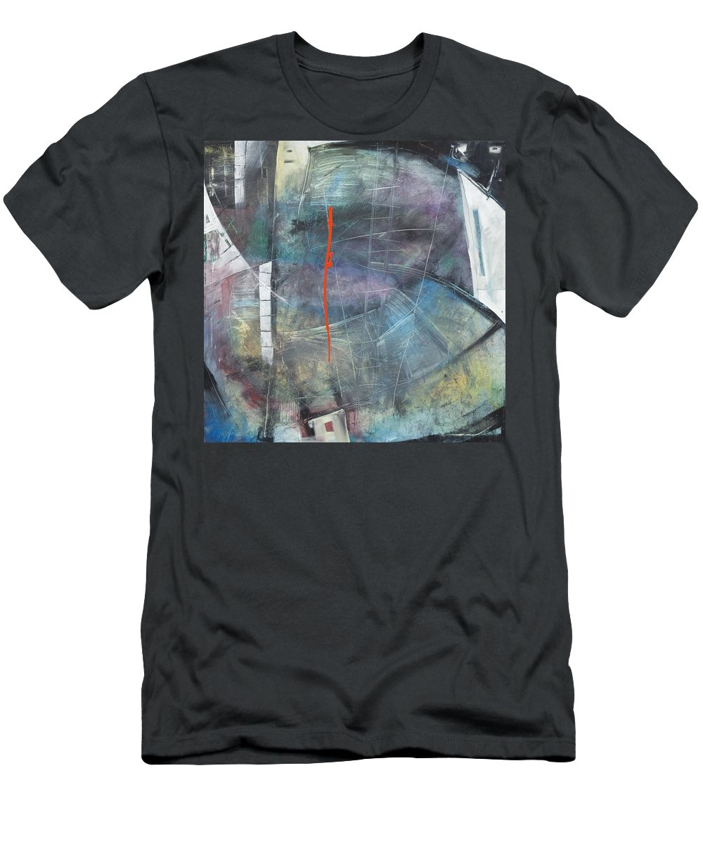 Abstract Men's T-Shirt (Athletic Fit) featuring the painting La Mort Au Cirque by Tim Nyberg