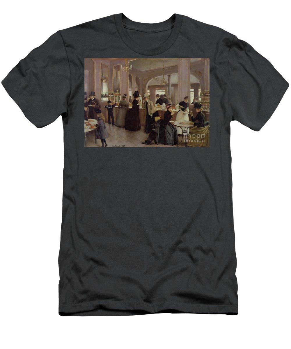 La Patisserie Gloppe Men's T-Shirt (Athletic Fit) featuring the painting La Patisserie by Jean Beraud